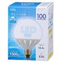 OHM LEDボール球 100W型 昼光色 LLDG16D-G H9 3128bt