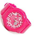 カシオ ベビーG ネオンダイアルシリーズ アナデジ 腕時計 ビビッドピンク×ホワイト BGA-130-4BDR