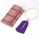 岸田産業 数珠セット 並切子(なみきりこ)念珠   女性用 401-253