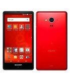 goo LTE対応 SIMフリースマートフォン g04 SH-M02 SH-M02-RGOO グーレッド ナノSIM