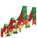 デラックスクリスマスウェーブペナント(店舗装飾・クリスマス)