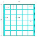 東洋印刷 タックフォームラベル 13インチ ×13インチ 30面付(1ケース500折) MX13S