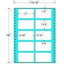 東洋印刷 タックフォームラベル 7 5/10インチ ×10インチ 10面付(1ケース1000折) MT7E