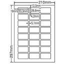 東洋印刷 シートカットラベル A4版 24面付(1ケース500シート) LDW24UBF