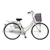 MARUKIN26型 自転車 レイニーホームHD261-G シルバー/シングルシフト MK-14-047 レイニーホームHD261G