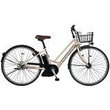 MARUKIN27型 電動アシスト自転車 レアルタシティ ハイブリッド273-G マットゴールド MK-14-046 レアルタシティHB273G
