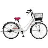 MARUKIN 24型 子供用自転車 フェルモ241-I ホワイト/シングルシフト MK-16-005
