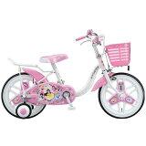 ブリヂストン16型 子供用自転車 ディズニープリンセス(オーロラホワイト)NPR16