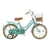 ブリヂストン16型 子供用自転車 ハッチ グリーン HC162 HC162