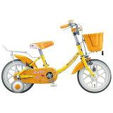 ブリヂストン 16型 幼児用自転車 エコキッズカラフル イエロー&オレンジ/シングルシフト EK16C5