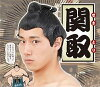 相撲カツラ-関取丸惣