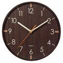 時計球面ガラスのウッドウォールクロック/YW9112DBR