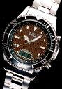 ELGIN/エルジン 腕時計 FK1353S-BP 100M防水 ソーラー電波ウォッチ フルメタル仕様、液晶ディスプレイ表示の画像