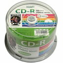 HIDISC CD-R HDCR80GP50の価格を調べる