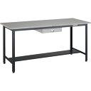 TRUSCO 中量立作業台鉄天板1800×750薄引出1段