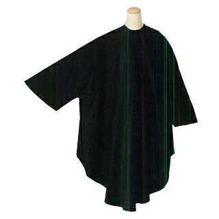 ヘアダイ 袖付 クロス ブラック