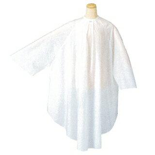 TBG シワカラー袖付カットクロス ホワイト