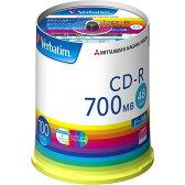 Verbatim データ用CD-R 700MB 48倍速対応 ワイドエリア印刷対応 スピンドルケース 100枚入り オリジナル (型番:SR80FP100V1E)