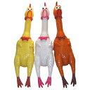 大声で鳴くニワトリ(shrilling chicken)43cm(イエロー)の画像