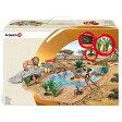 Schleich シュライヒ 動物フィギュア 動物達の水飲み場セット 42258