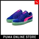 PUMA プーマ Suede Wns SW 22.5 spectrum blue-knockout pink 364737