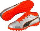 PUMA プーマ ONE 4 Syn TT Jr 22.5 Silver-Shocking Orange-Puma Black 104785