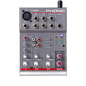 AM55 PHONIC フォニック コンパクトミキサー PHONIC 1-Mic/Line 2-Stereo Compact Mixer AM55 AM55PHONIC