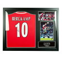 Arsenal F.C. Bergkamp Signed Shirt Framed