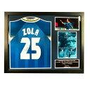Chelsea F.C. Zola Signed Shirt Framed チェルシーFCゾラは額縁シャツを締結しました