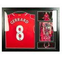 Liverpool F.C. Gerrard Signed Shirt Honours Framed リヴァプールFCジェラード