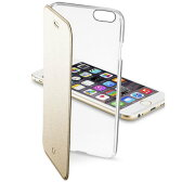 Cellularline iPhone6s ケース 手帳型 ゴールド CLEAR BOOK for iPhone6/6s(4.7)