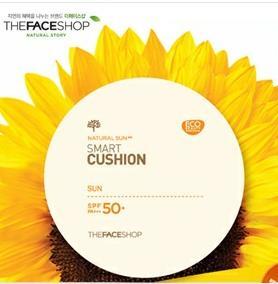 ザフェイスショップNatural Smart Cushion SunナチュラルサンAQスマートクッションサンSPF50+PA+++10g