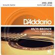 アコースティック弦 D'Addario EZ900 Extra Light