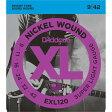 EXL-120(DADDARIO) ダダリオ エレキギター弦 x1セット (Super Light .009-.042) D'Addario XL Nickel Round Wound (EXL120DADDARIO)