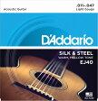 EJ40 アコースティックギター弦 Silverplated Wound / D'Addario