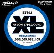 ブラックナイロンテーパーワウンドベース弦 D'Addario ETB92