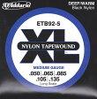 D'Addario ETB92-5 Black Nylon Tapewound 5弦エレキベース弦 ダダリオ 5弦ベース用 テーパーワウンド弦 ロングスケール