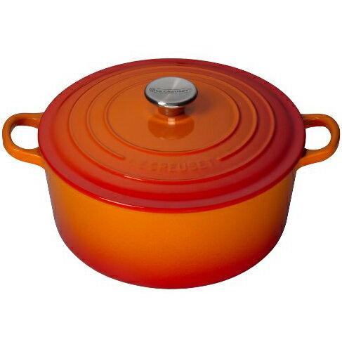 ルクルーゼ(ル・クルーゼ) 両手鍋 ココットロンド 21001-20cm オレンジ 09