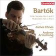 Bartok バルトーク / ヴァイオリン・ソナタ第1番、第2番、ラプソディ第1番、第2番、アンダンテ エーネス、A.アームストロング 輸入盤