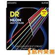 NMCA-2/11 DR アコースティックギター弦 MEDIUM LITE .011-.050 NEON MULTI COLORシリーズ DR Strings NMCA211