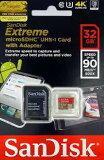 (32GB) SanDisK サンディスク Extreme microSDHCカード R 90MBs UHS-I U3対応 海外リテール SDSQXNE-032G-GN6MA