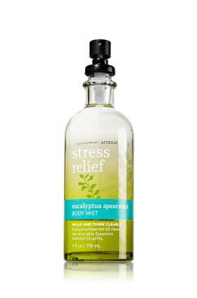 バス&ボディワークス アロマセラピー ストレスリリーフ ユーカリスペアミント ボディミスト Aromatherapy Stress Relief Eucalyptus Spearmint Body Mist