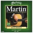 MARTIN M180 Ex.LGT 12弦アコースティックギター弦 マーチン スタンダードシリーズ 12弦用アコースティックギター弦