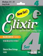 Elixir エリクサー ベース弦 NANOWEB ステンレス Long Scale Medium .050-.105 #14702