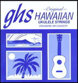 GHS H-10/Hawaiian Ukulele Black Nylon ウクレレ弦 - ガス