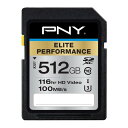 PNY Elite Performance 512GB SDXC Class 10 UHS-I, U3 Up to 95MB/sec P-SDX512U3H-GEの価格を調べる