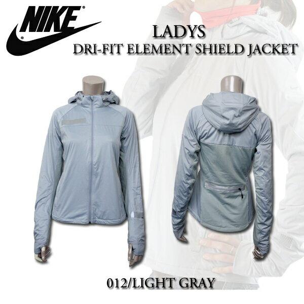 NIKE ウィメンズ DRI-FIT エレメントシールドジャケット NJP-503150-012 ウルフグレー/ブライトクリムゾン
