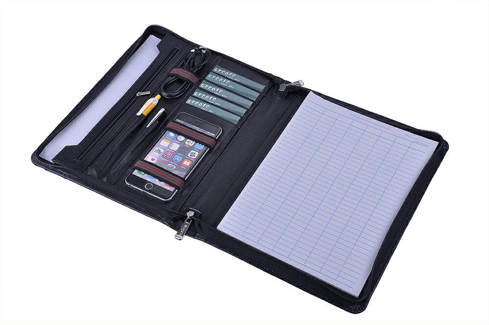 ワンランク上のビジネスオーガナイザー パッドフォリオ 本革レザー製  A4書類ケース