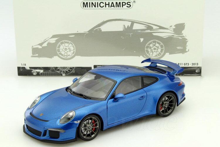 ミニチャンプス 1/18 ポルシェ 911 GT3 (991) ブルーメタリック 300台限定 フル開閉