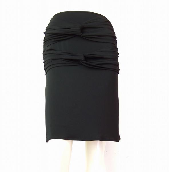 【中古】 カールラガーフェルド KARL LAGERFELD 黒 ブラック 美的スカート 38 9 春夏 レディース